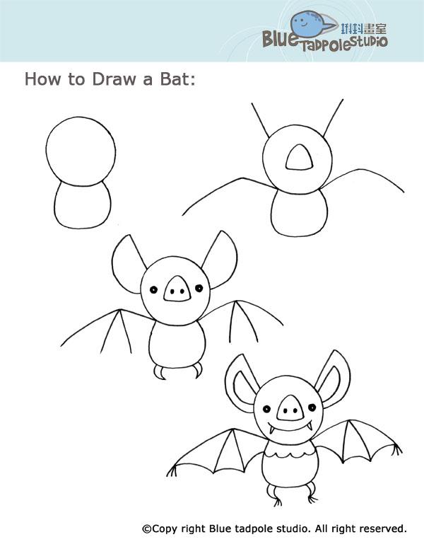 Ben noto Halloween per bambini: come disegnare un pipistrello semplice  KF75