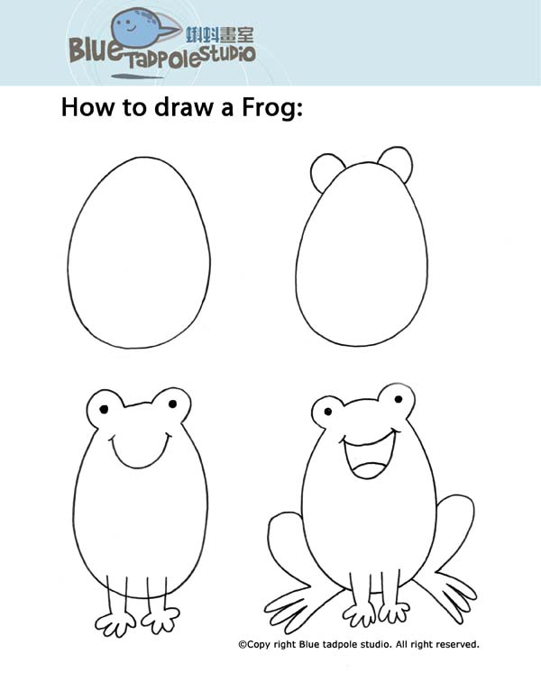 It is a picture of Satisfactory Frog Drawing For Kids